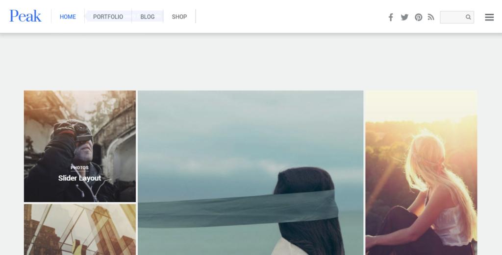 Peak WordPress portfolio theme