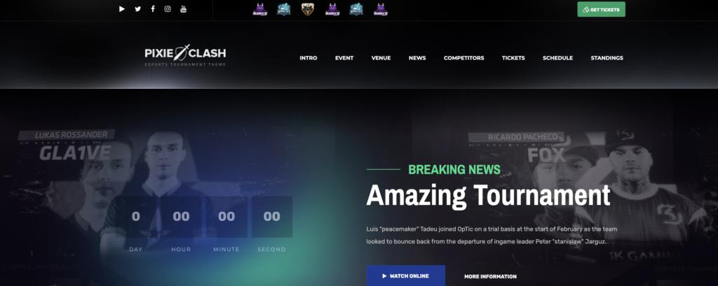 PixieClash WordPress gaming theme