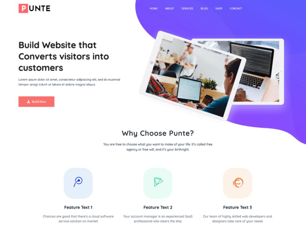 Puinte WordPress personal website theme