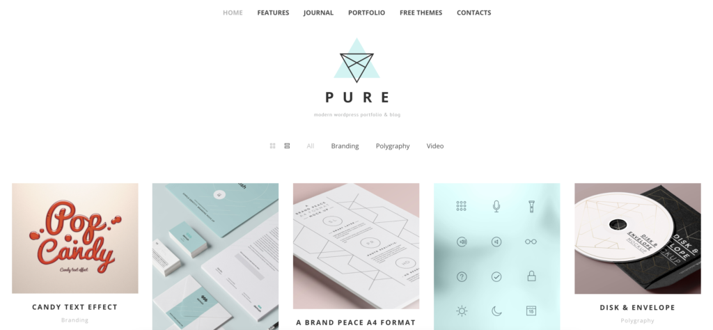 Pure wordpress art theme