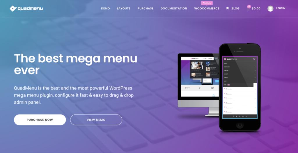 QuadMenu WordPress Mega Menu Plugins