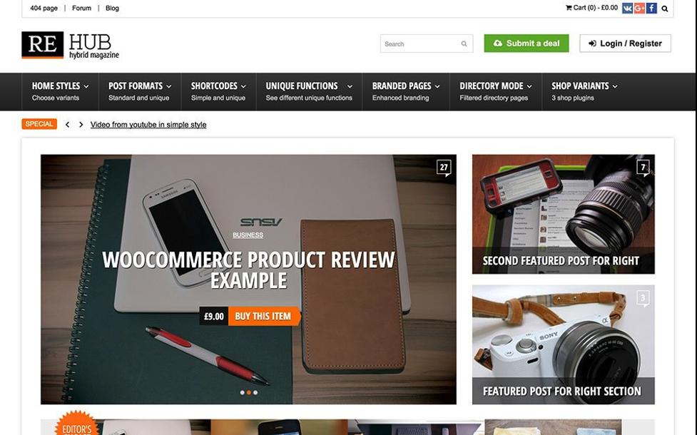 Rehub WordPress review themes
