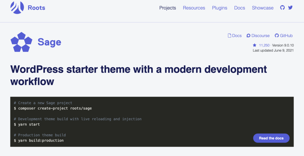 Sage  blank WordPress theme