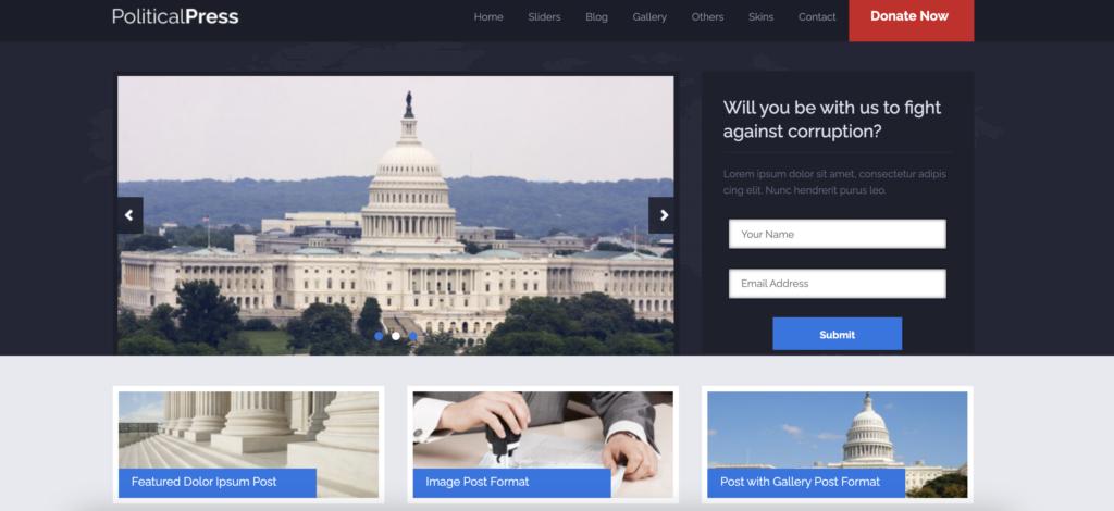 Political Press  political WordPress themes