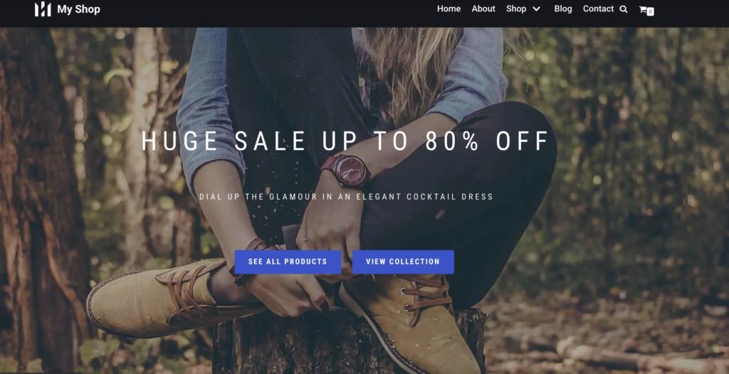 MyShop minimal WooCommerce theme