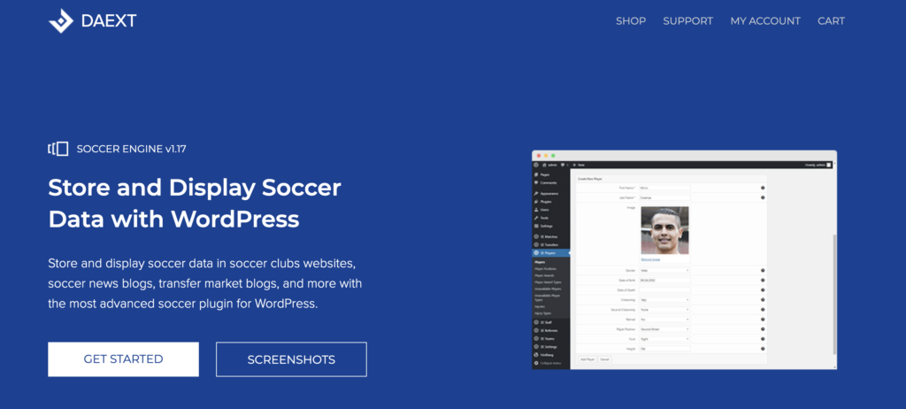Soccer Engine WordPress sport plugin