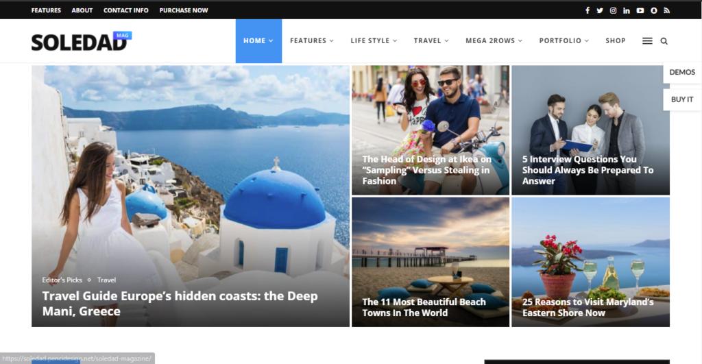 best WordPress news themes Soledad