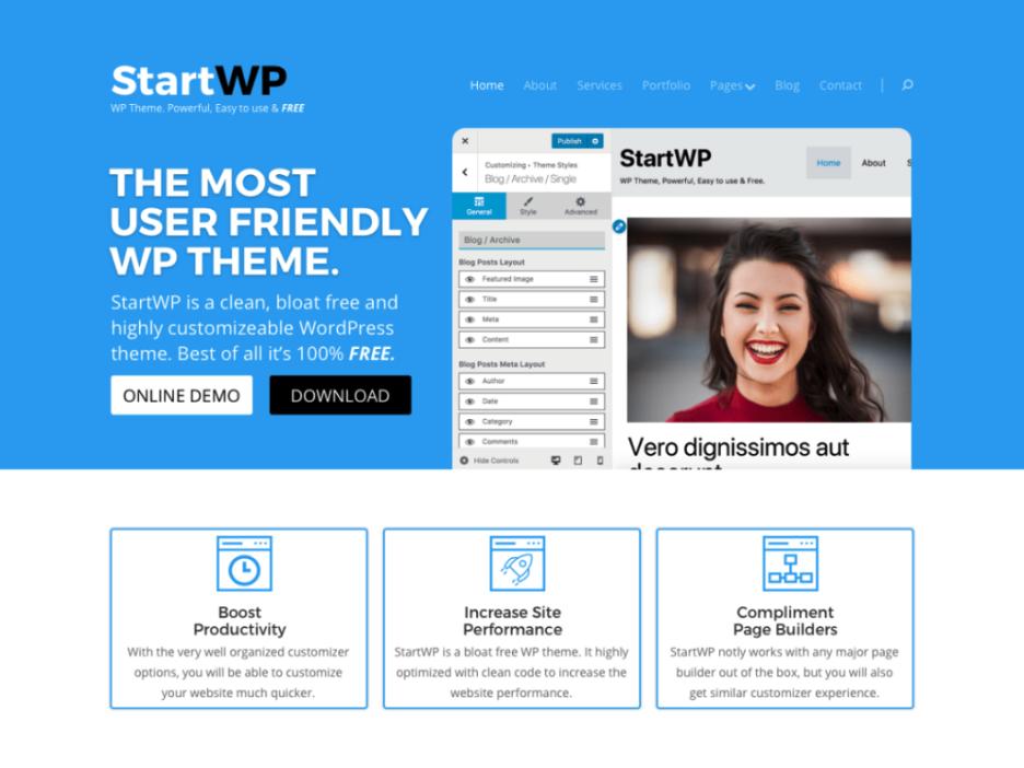 StartWP blank WordPress theme