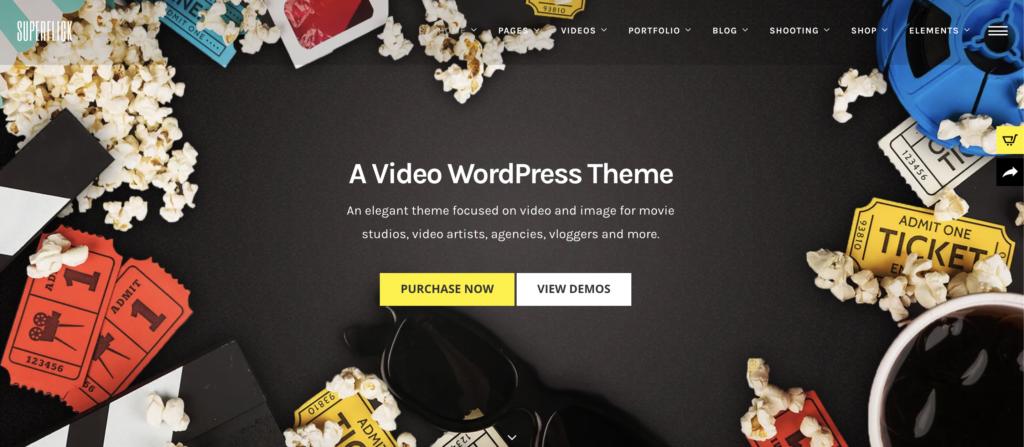 Superflick  WordPress videos theme