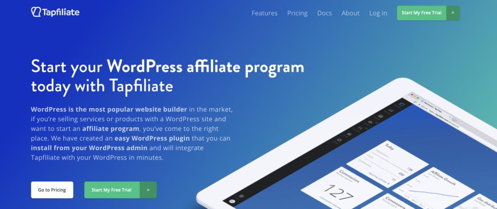 Tapfiliate WooCommerce affiliate plugin