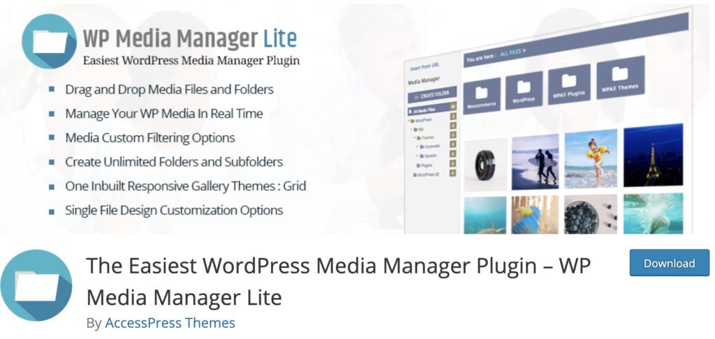 WP Media Manager - WordPress media library plugin