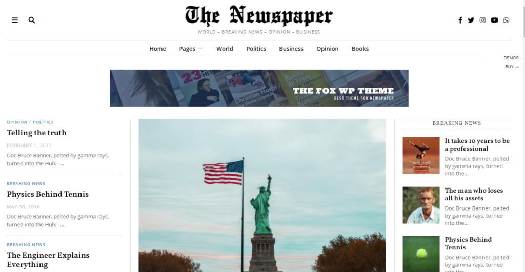 TheFox best WordPress news themes