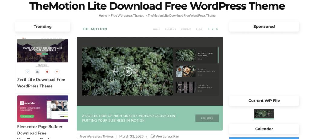 TheMotion  WordPress videos theme
