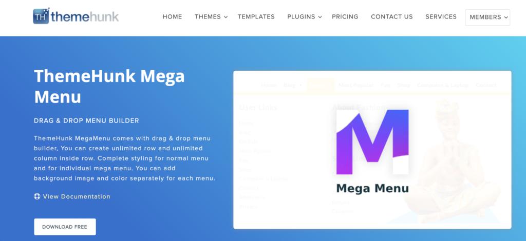 WordPress Mega Menu Plugins - MegaMenu