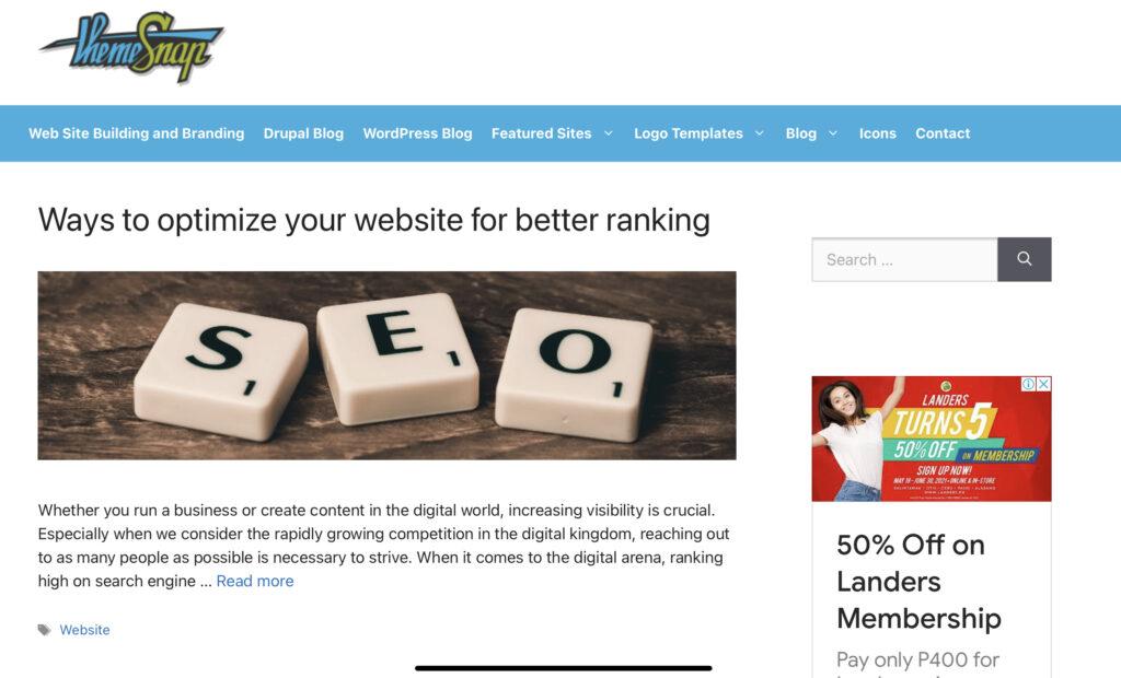 sell WordPress themes on ThemeSnap