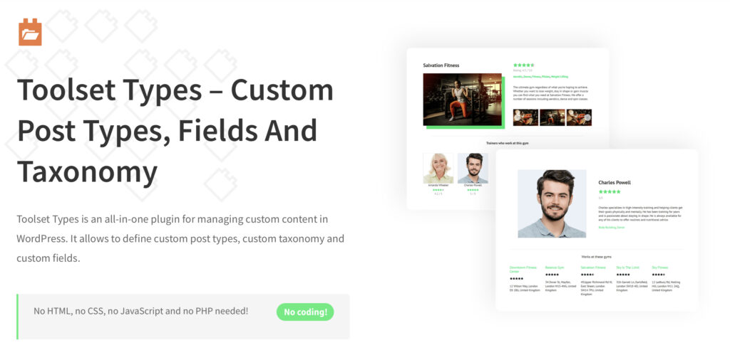Toolset Types WordPress custom post type plugin