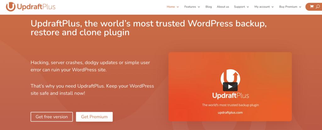 UpdraftPlus WordPress clone plugin