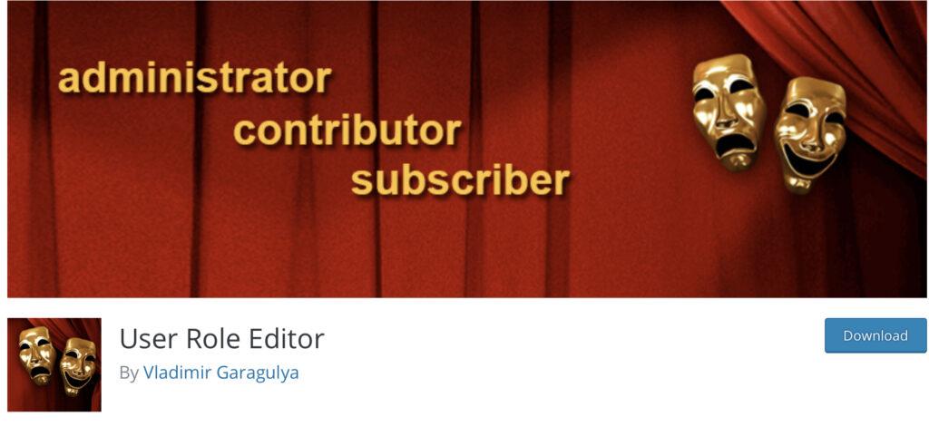 User Role Editor multi-author blog plugin