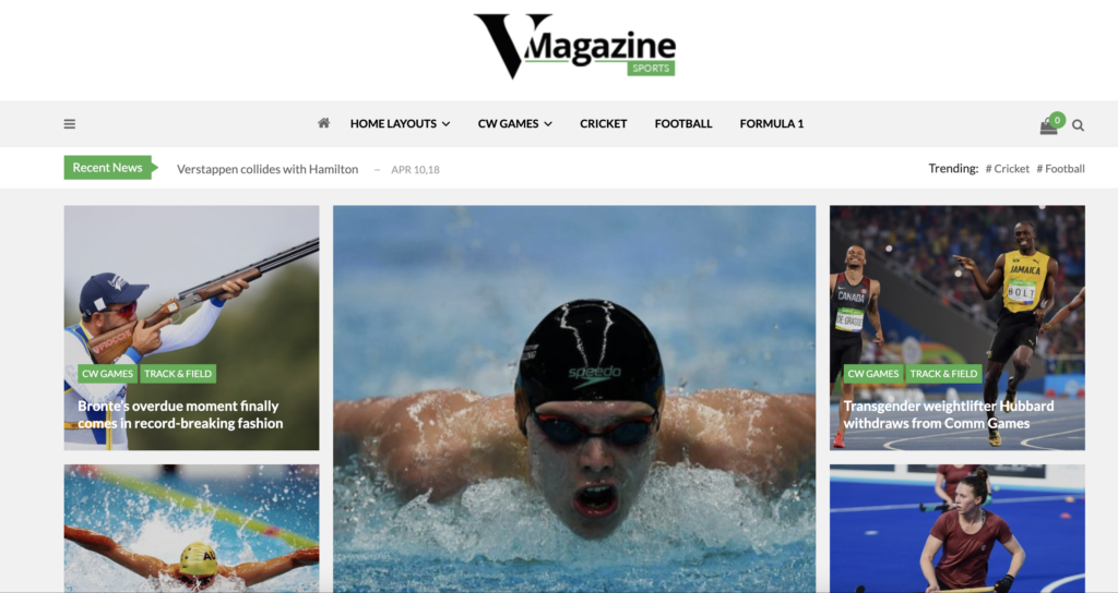 VMagazine wordpress sport themes
