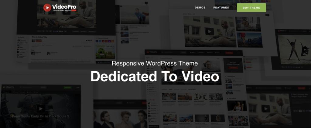 VideoPro  WordPress videos theme