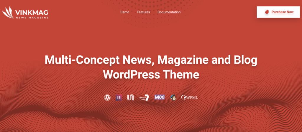 VinkMag WordPress review themes