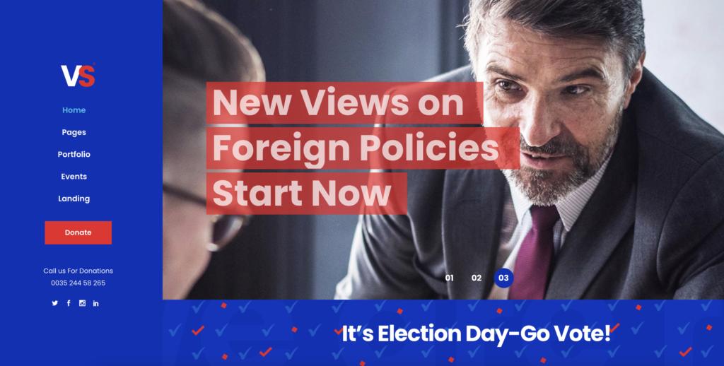 VoteStart  political WordPress theme