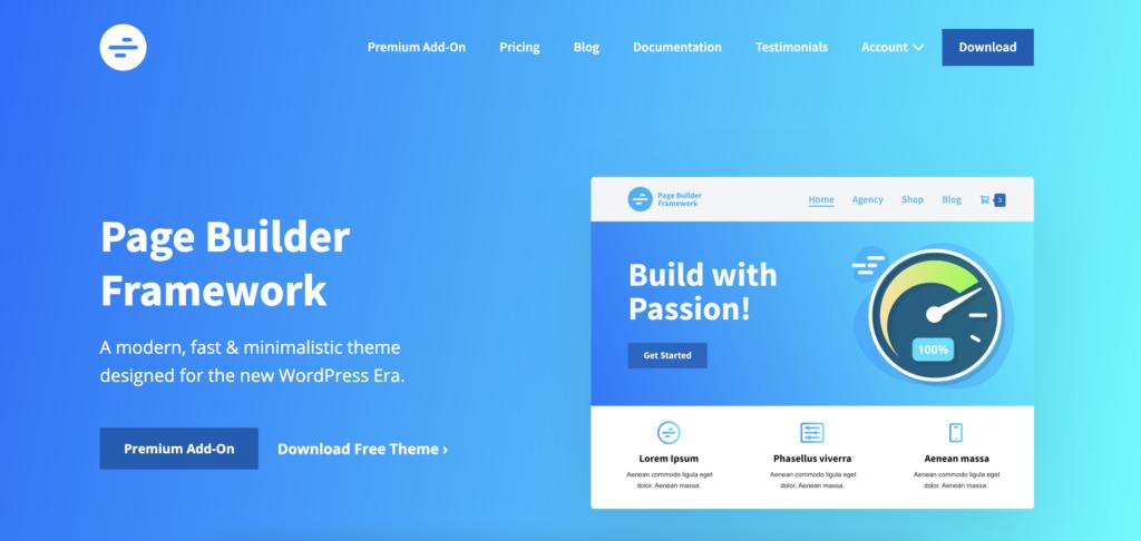 WP Page Builder Framework