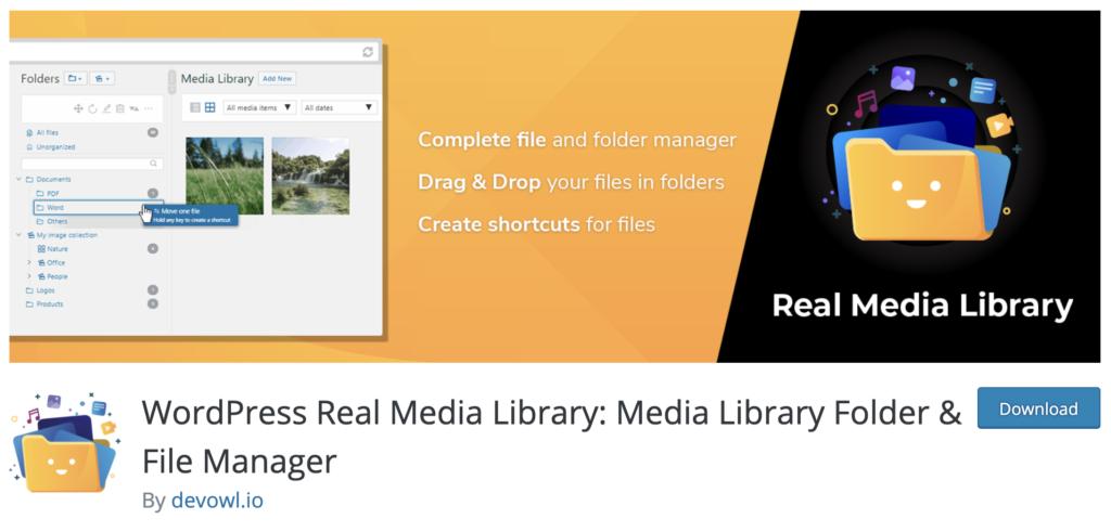 WordPress Real Media Library