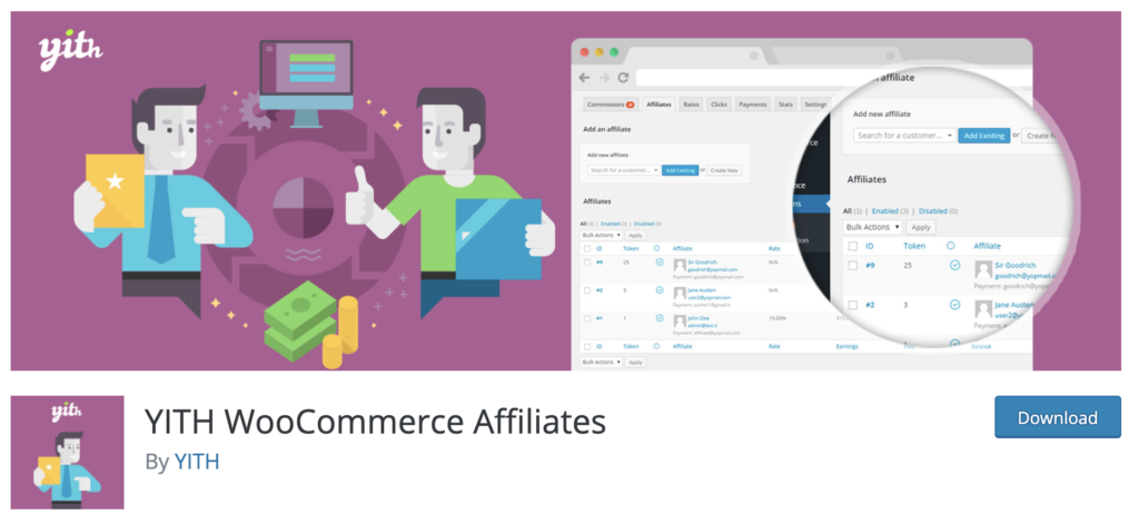 YITH Woocommerce Affiliate - WooCommerce affiliate plugin