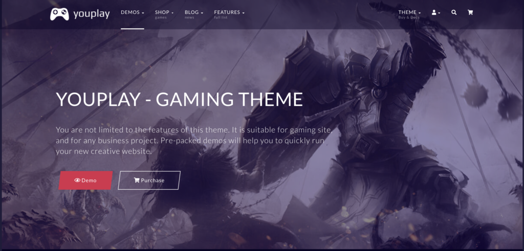 Youplay WordPress gaming theme