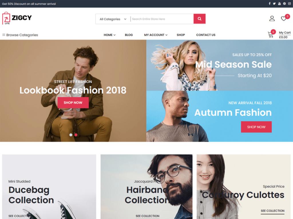 Zigcy Lite WordPress personal website theme