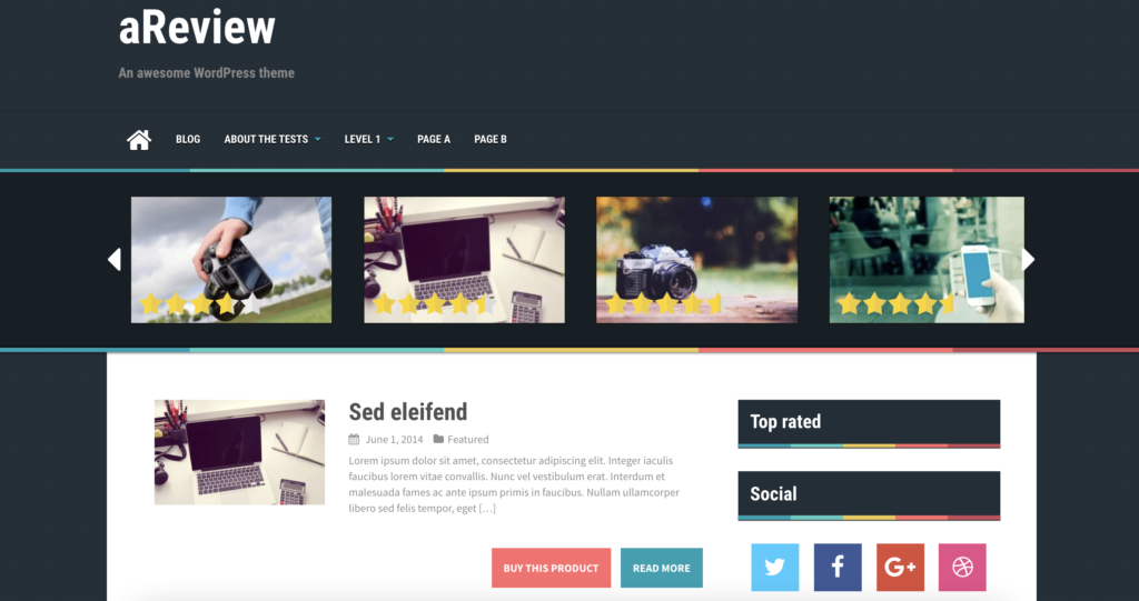 areview WordPress review themes