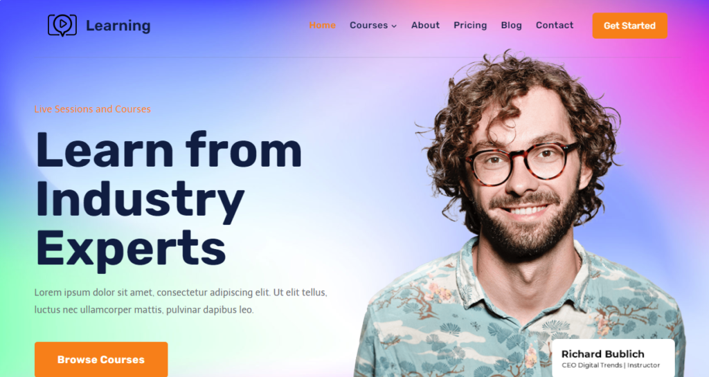 Kadence WordPress portfolio theme