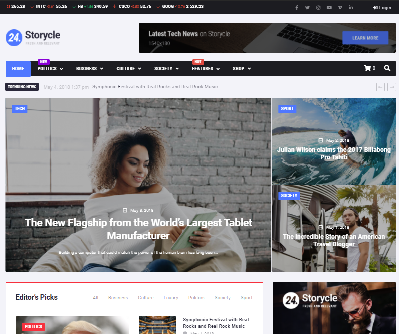 Storycycle best WordPress news themes