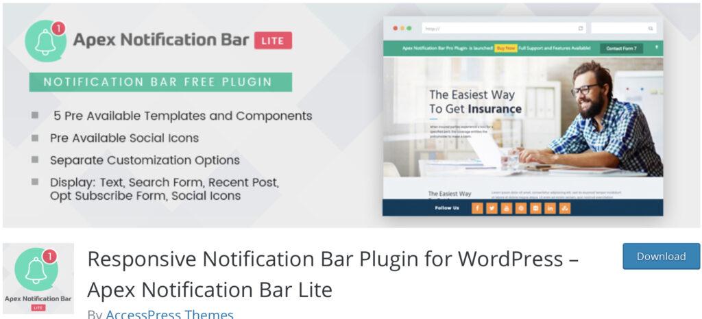 Apex wordpress announcement plugin