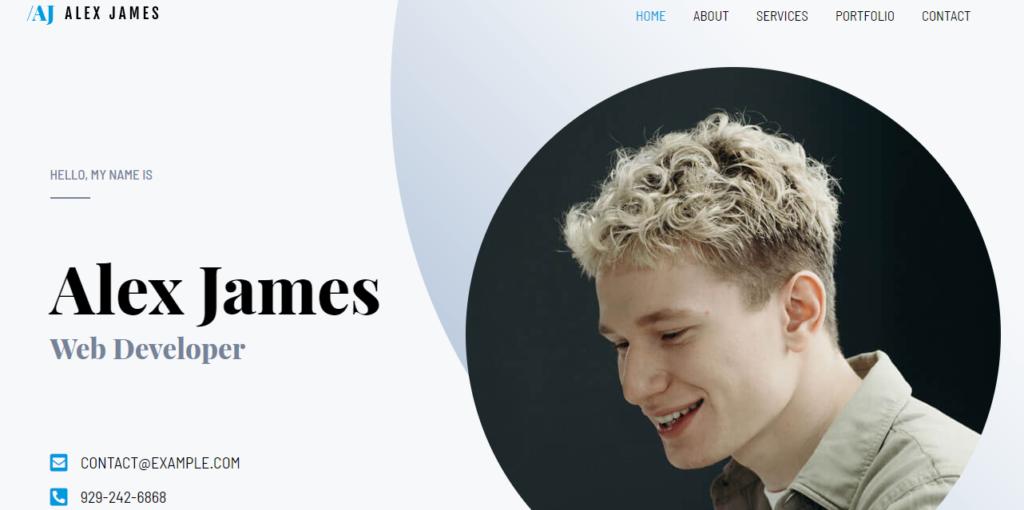 Astra WordPress resume theme