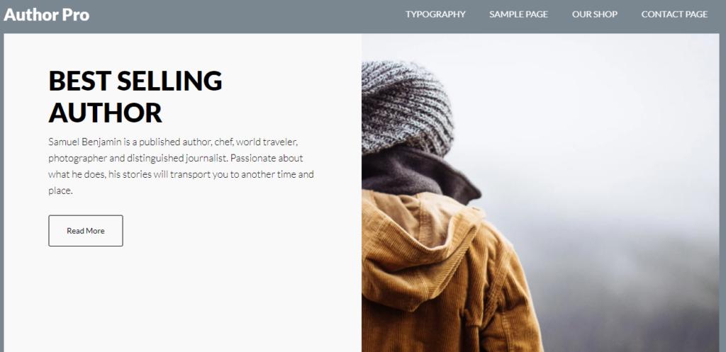 Author Pro WordPress resume theme