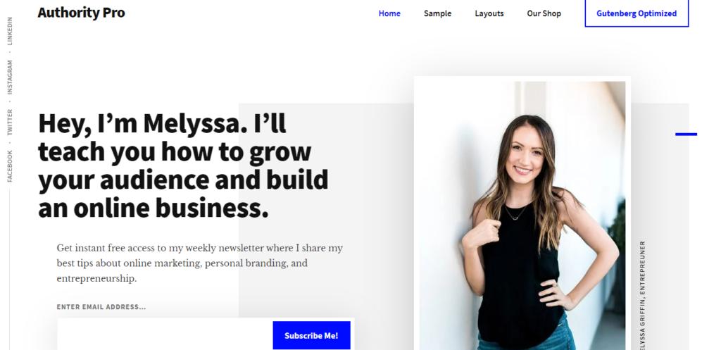 Authority Pro WordPress resume theme