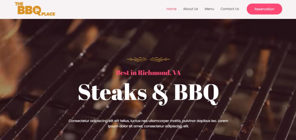 BBQ Restaurant elementor template