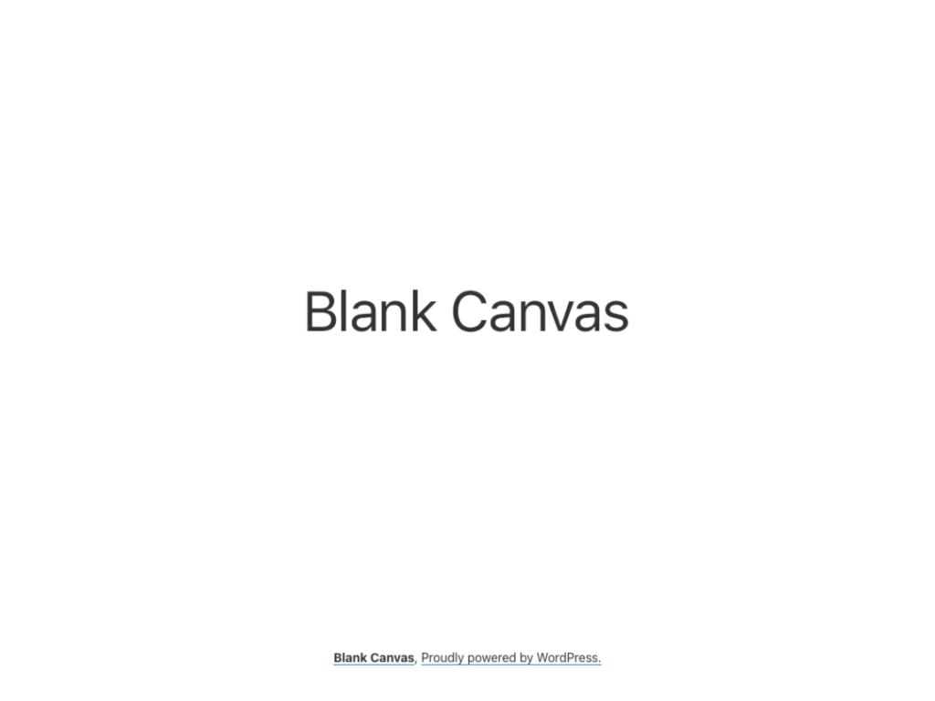 Blank Canvas automattic themes