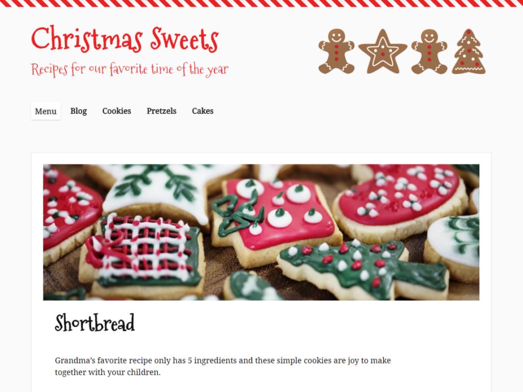 Christmas Sweets WordPress Christmas plugin