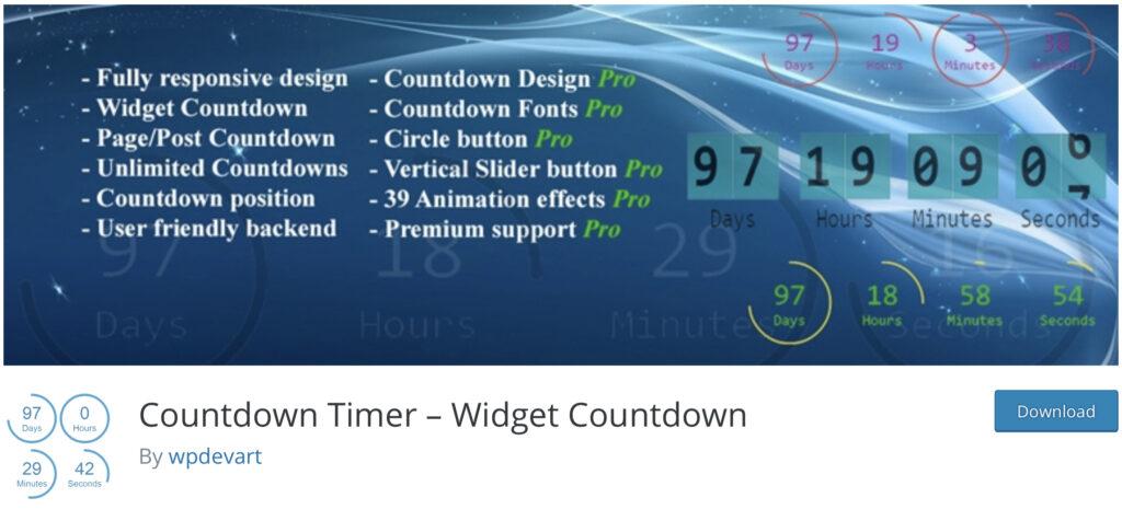 Countdown Timer - wordpress countdown timer