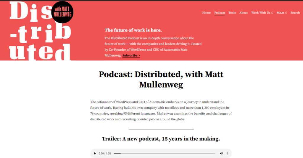 Distributed WordPress podcast