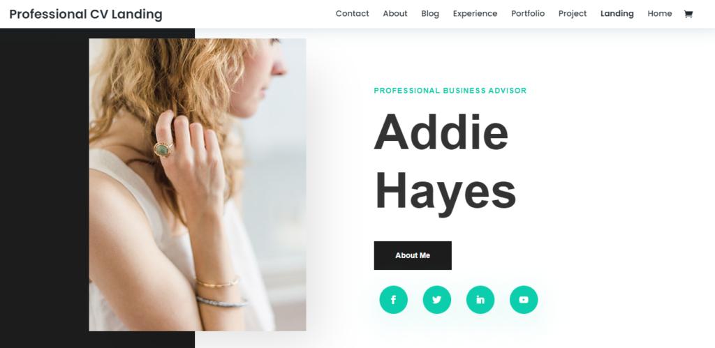 Divi WordPress resume theme