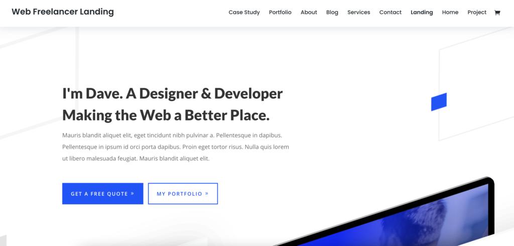 Divi WordPress theme for programmers