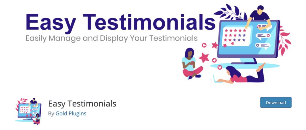 Easy Testimonials. wordpress review plugin