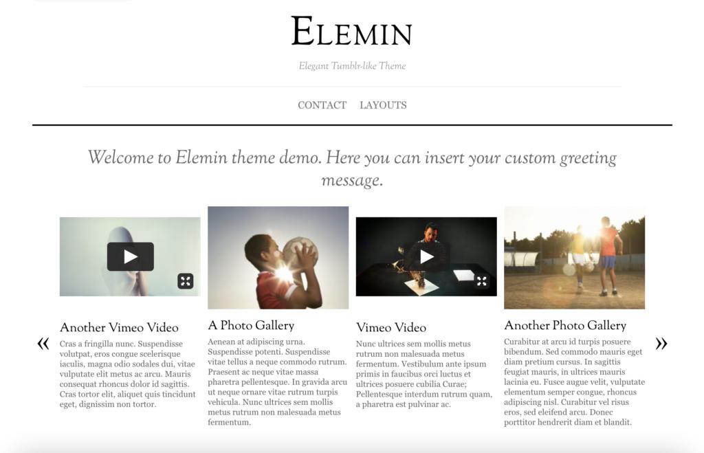 Elimin WordPress tumblr theme