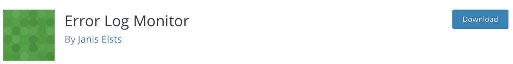 Error Log Monitor - WordPress activity log