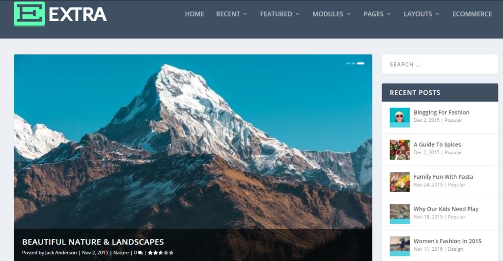 Extra WordPress grid theme