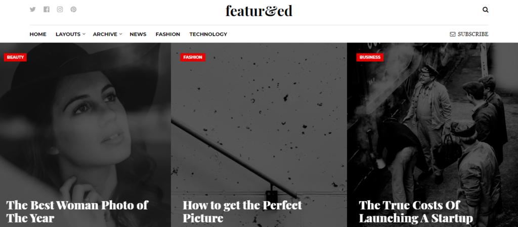 Featured WordPress grid theme